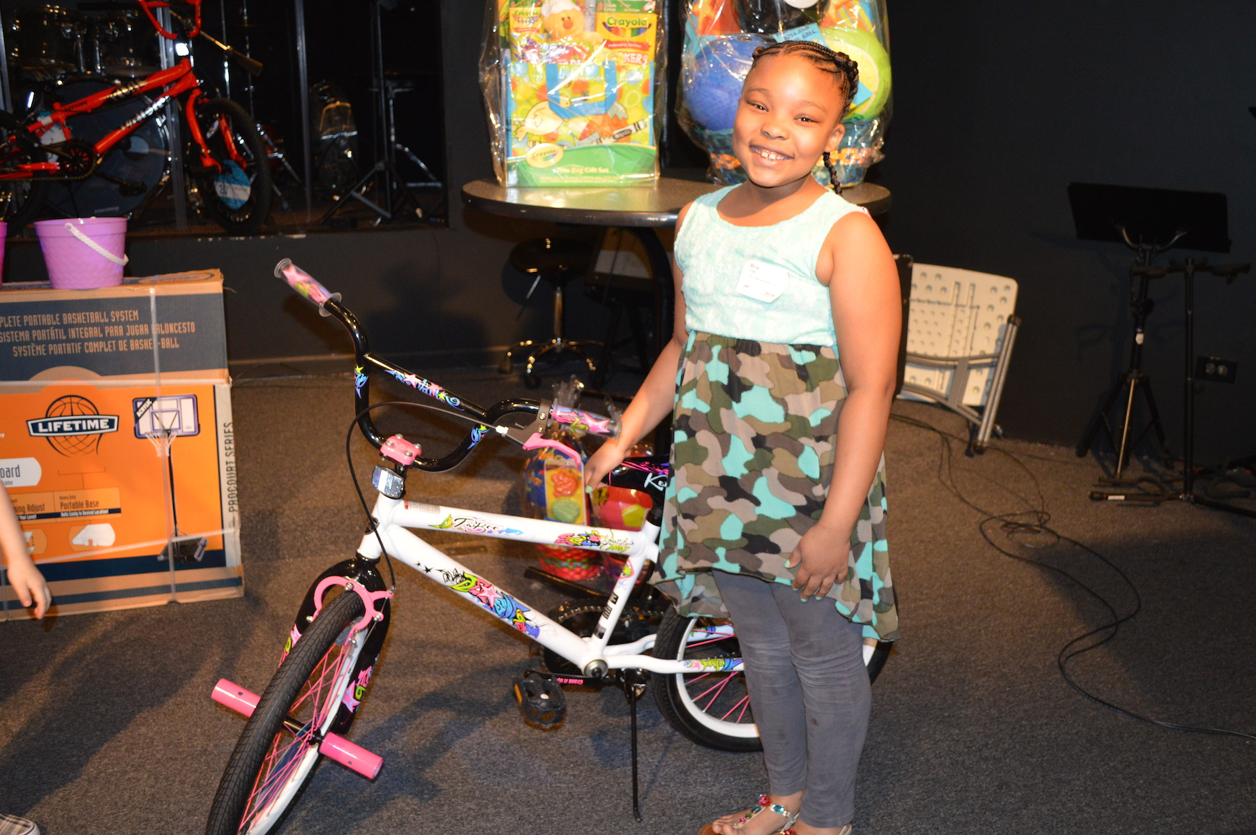 the bike giveaway was a BIG hit!