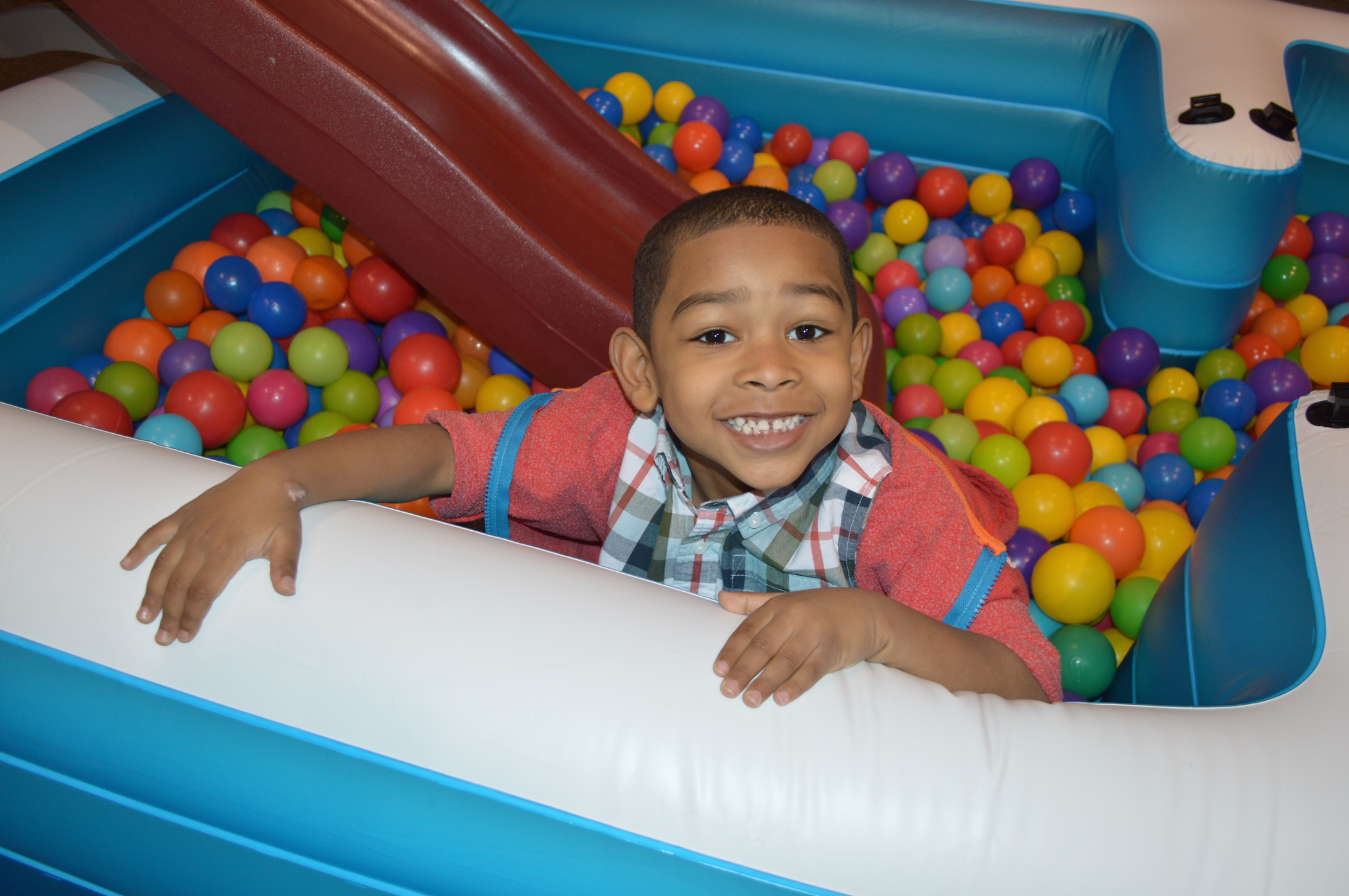 the BALL PIT was a hit, too!