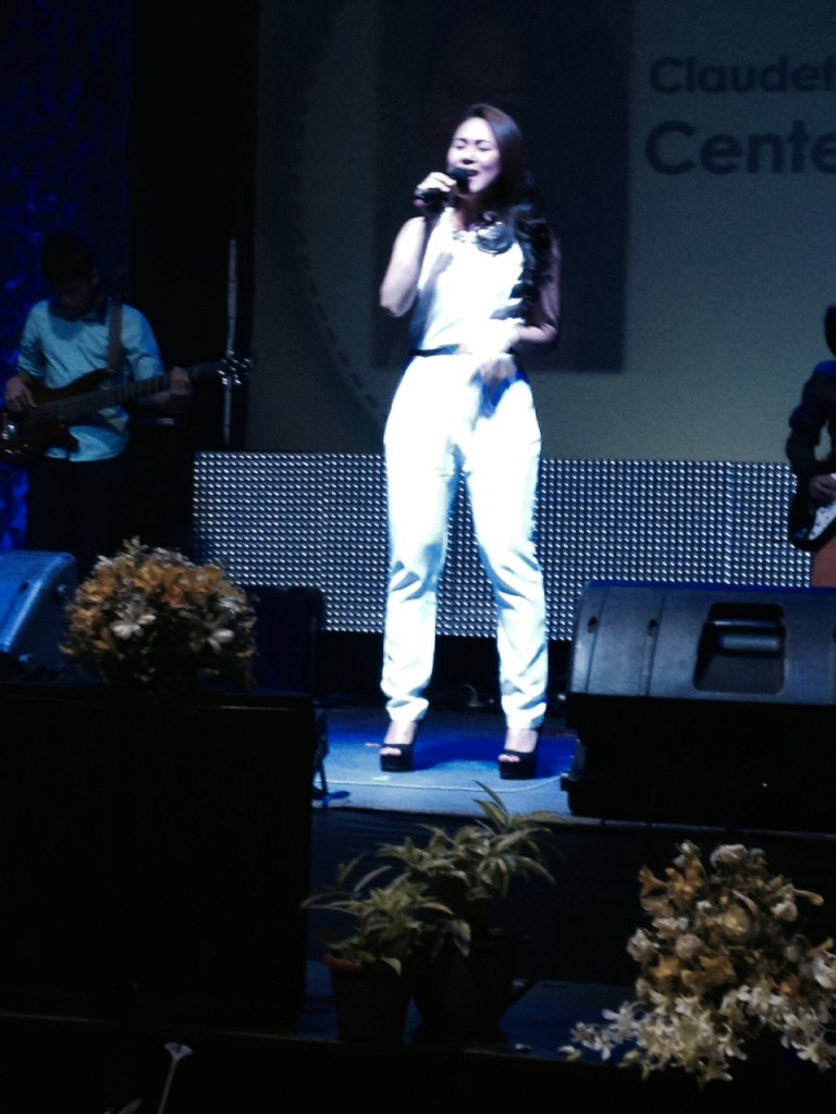 a local celebrity, TV personality & singer who was recently born-again & joined CLC-Davao, shared her testimony with the crowd.