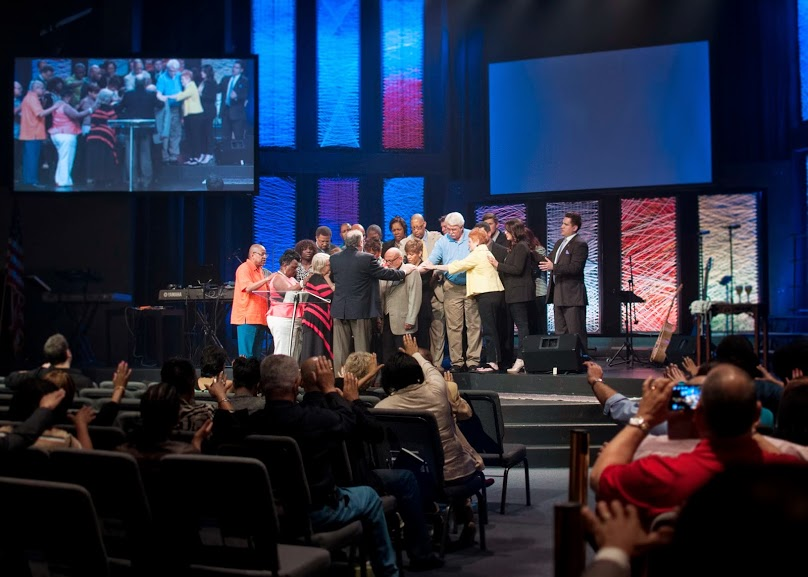 We began with our elders & pastors praying over newly-appointed elders, Tony & Paula Talamonti
