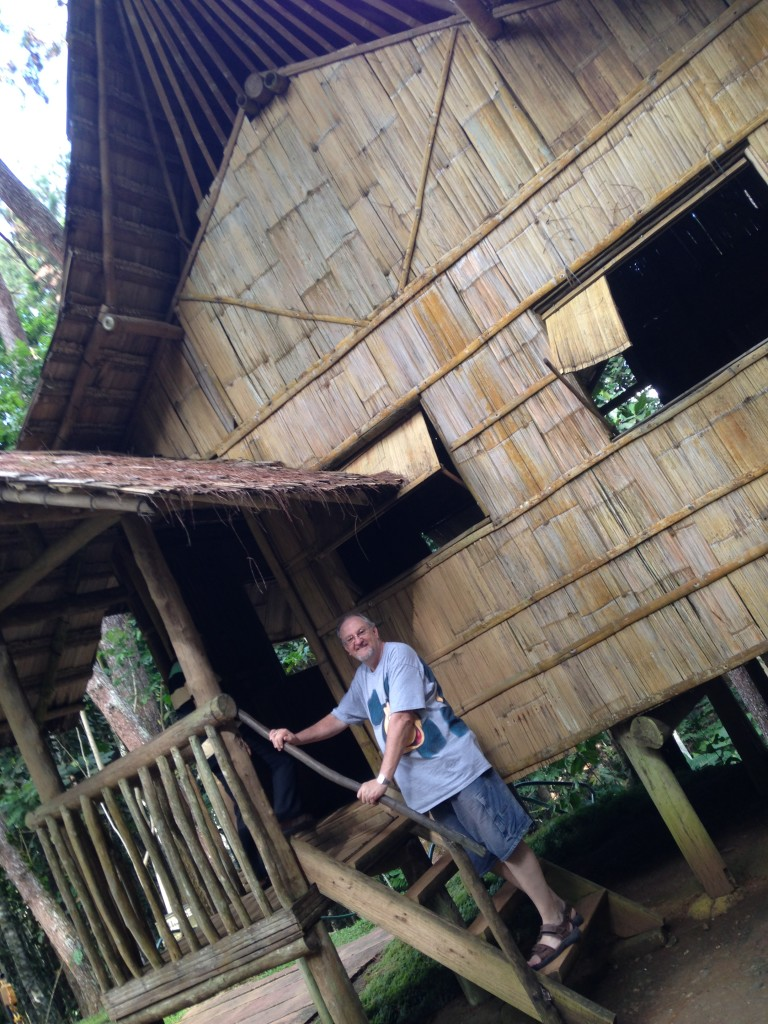 The resort included a traditional Filipino house in the mountain areas