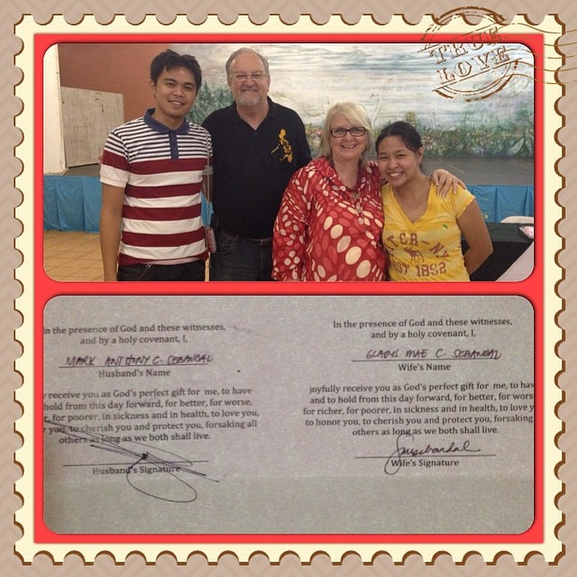 """It is with great honor for sharing your life to us and for initiating the renewal of our love. Thanks to you Pastor Jerry and Mommy Chris Mcquay! """"Xoxo  #marriageencounter #refreshed #restored #renewed — with Chris McQuay, Jerry McQuay and Mark Anthony Sebandal at Eden Nature Park & Resort."""