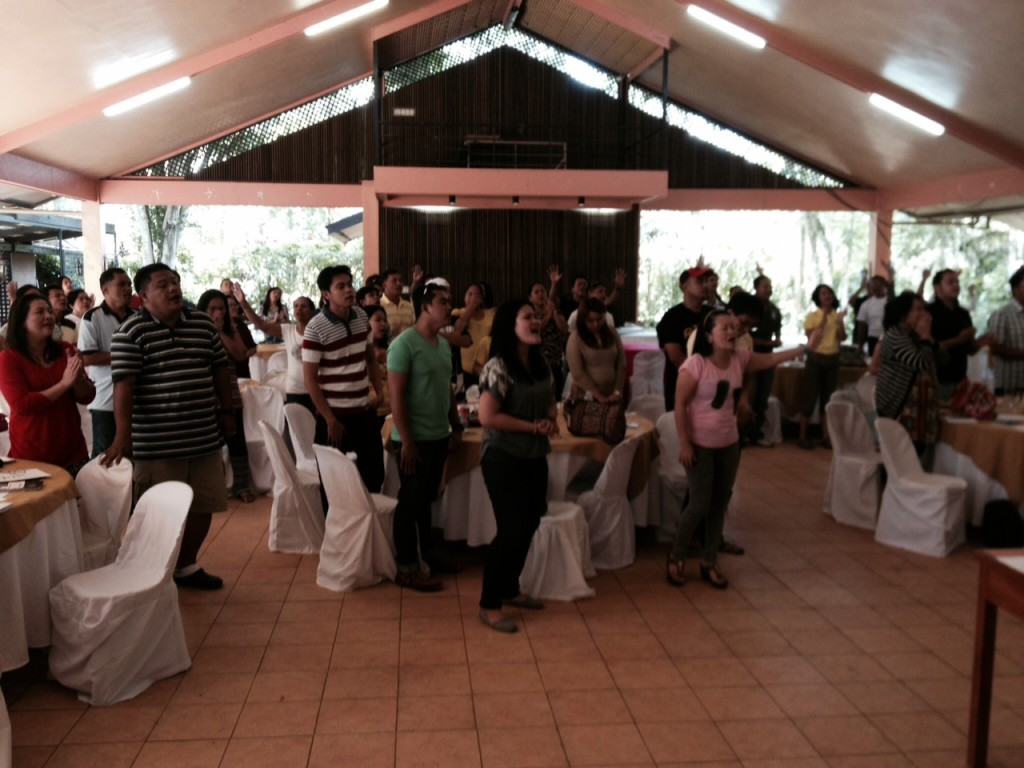 A few of the pastors & leaders as the retreat began