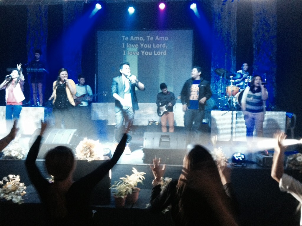 Joel Montes led worship with his anointed team