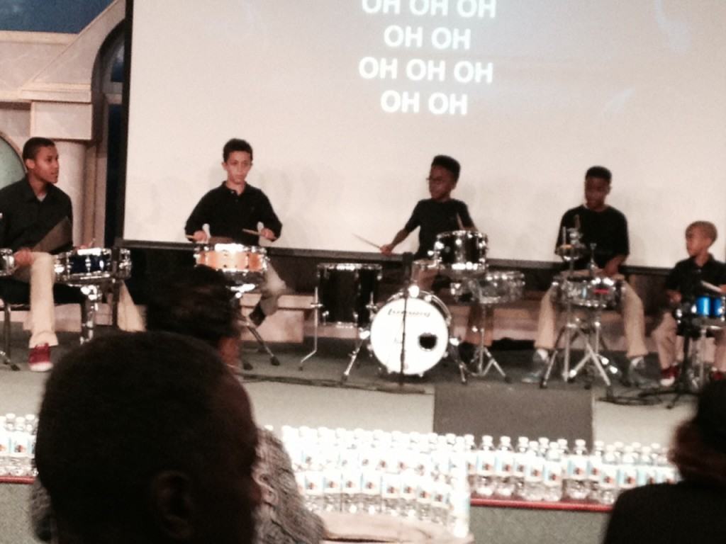 These young drummers accompanied the Praise team!