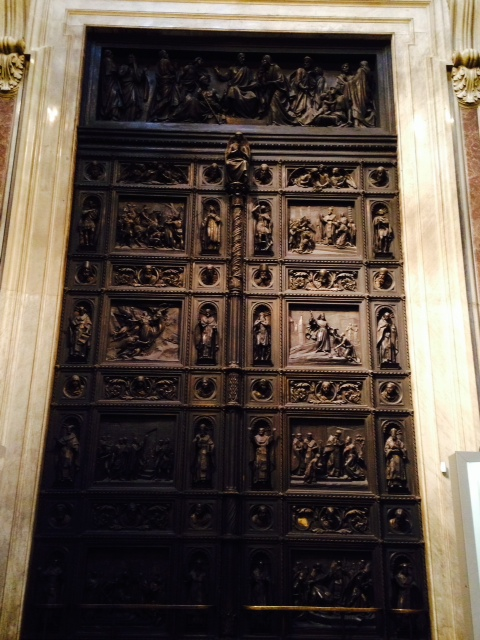 This oak & bronze door weighs 20 TONS (40,000 pounds!)