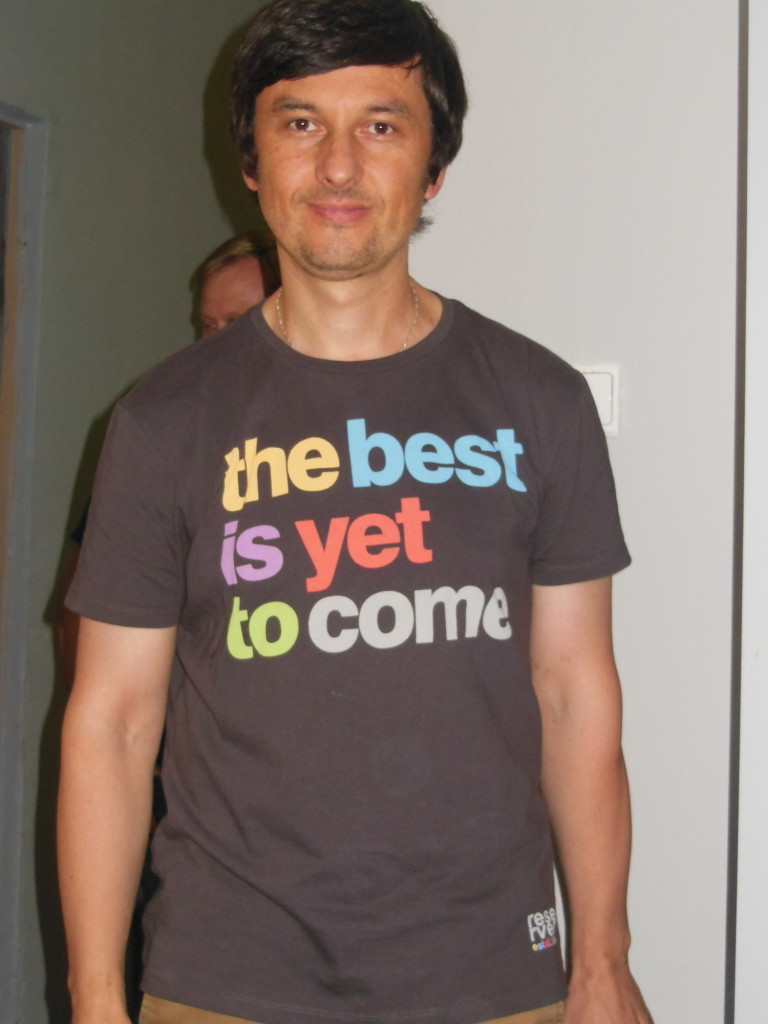 This man was my interpreter, but I took his pic because I love the shirt!