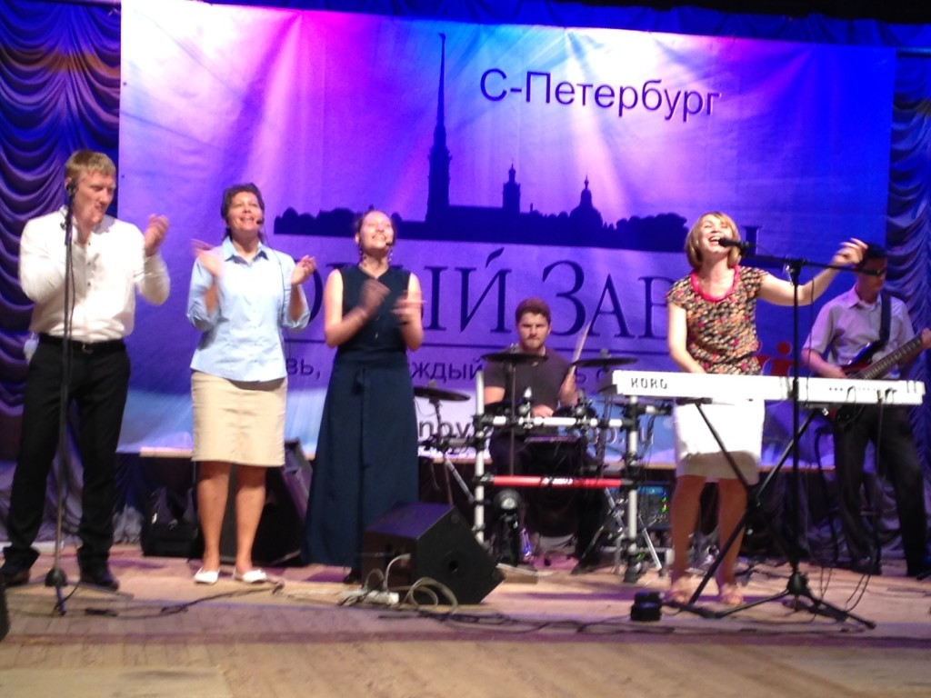 The worship team here is WONDERFUL, which makes me feel right at home!