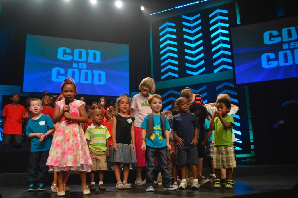 The preschool choir stole our hearts before the Production could even begin!