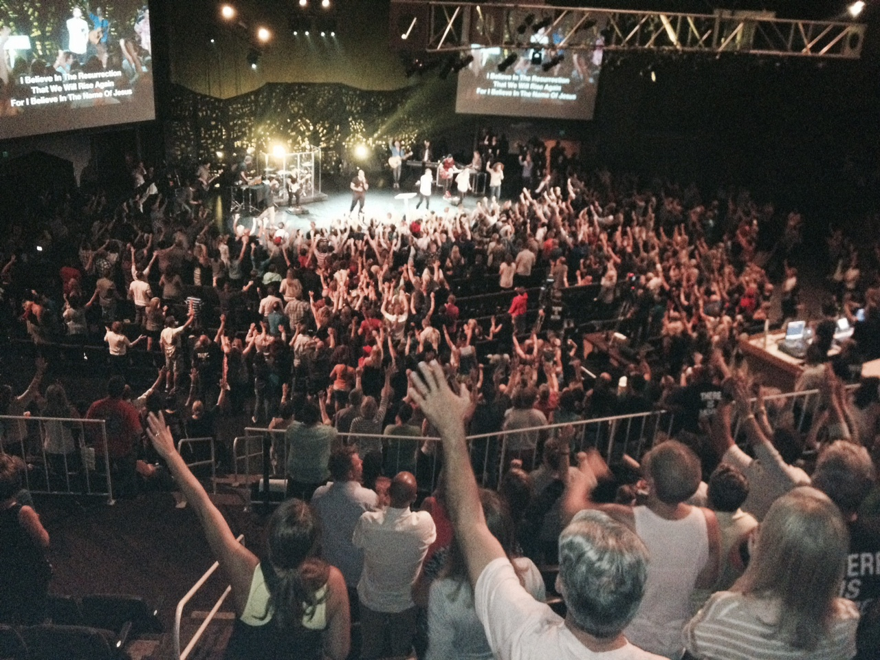 It was pretty awesome to see hundreds (thousands?) of hands raised in commitment to the Lord!