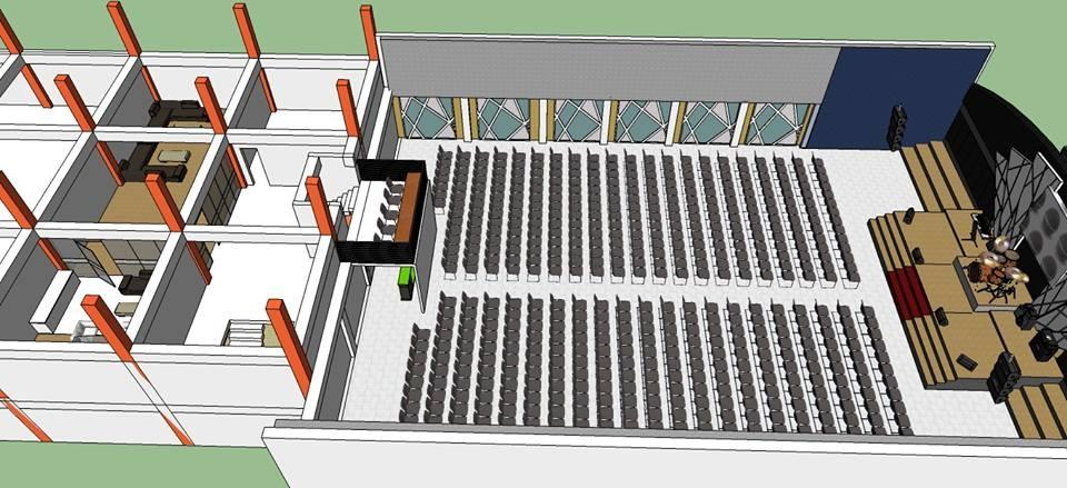 This is the floor plan that will enable them to seat at least 800 worshippers!