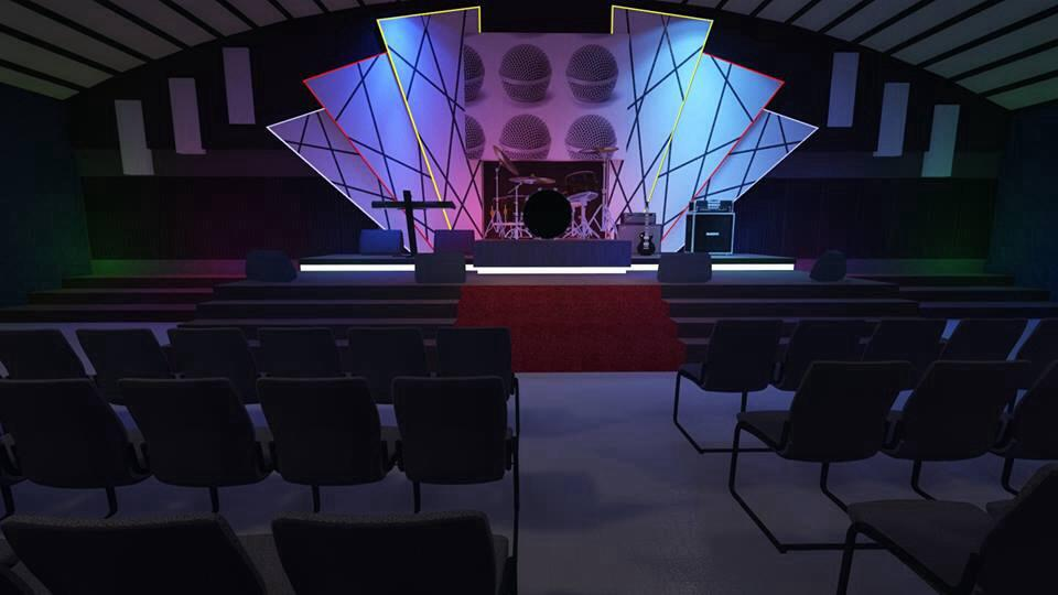 An artist's rendering of the new stage design when completed.