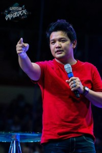Joel Montes preaching at a national conference in Manila recently.
