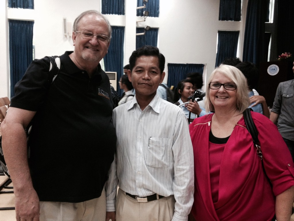 One of the Cambodian officials who 'raved' about how much this conf was helpful & needed.  The official in charge (not pictured) told us they had no idea beforehand how beneficial the conf. would be & that they hope to do it again w/even more delegates from throughout Cambodia!