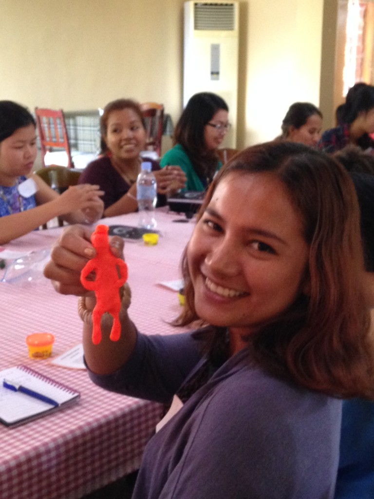 these high-powered, intense women leaders enjoyed a little fun with Play Dough in one session - seeing how God made man!