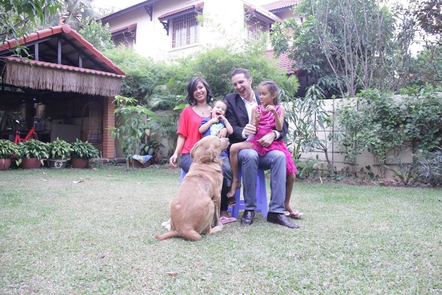 L to R, Soar, Josiah, Jesse, Jessica (not sure of the dog's name)