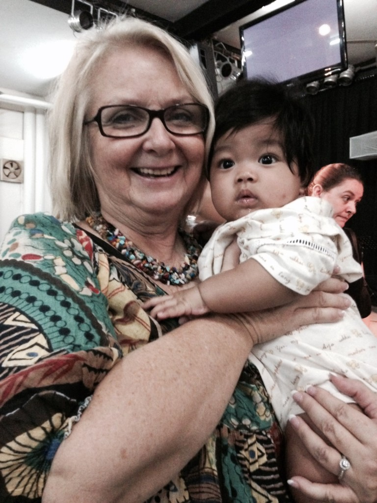 This is Joel, the son of a New Life member who helps rehabilitate girls rescued from sex trafficking.  Isn't he a cutie? (We had to get our Nonny & Poppy time in somehow)