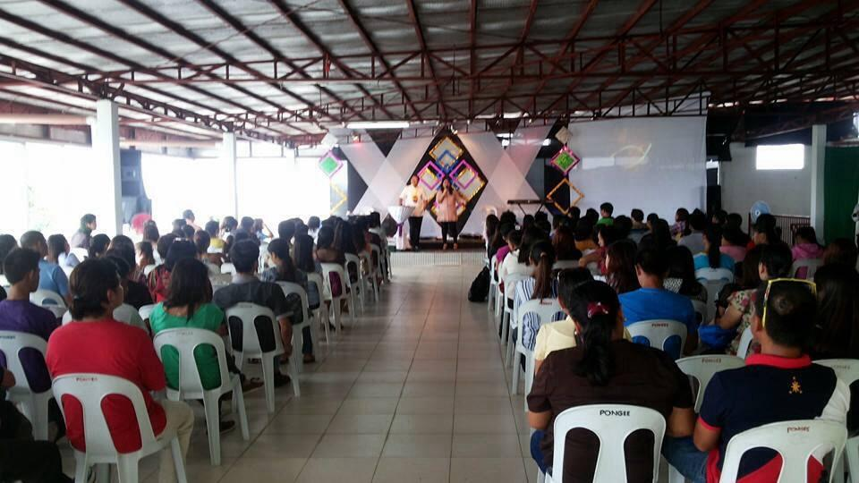 part of the record crowd at the first service in CLC-Tagum's new location!