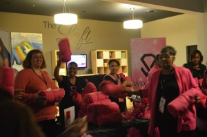 and they made sure EACH attendee receive a gift  'Women Rock' blankie-