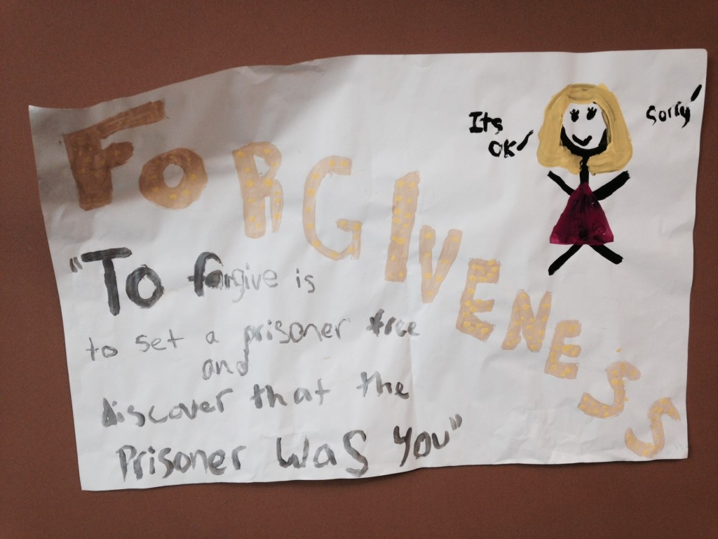 """Saw this sign outside their children's ministry area this morning before service & used it during my message: """"To forgive is to set a prisoner free & discover that the prisoner was you"""""""