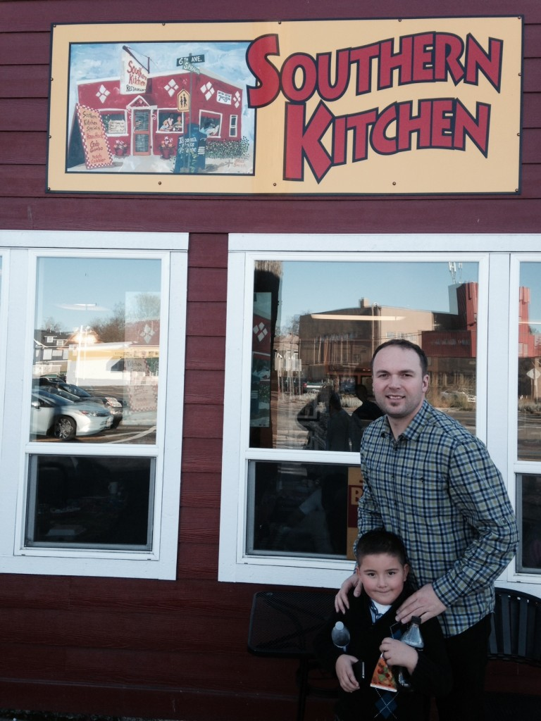 """Then Pastor Jason took me to a Tacoma landmark, """"Southern Kitchen"""", which has been featured on the Food Network's, """"Diners, Dives & Drive-Ins"""""""