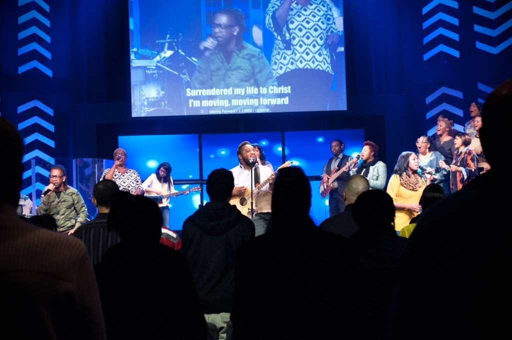 """""""Moving Forward"""" was a great song for our current series! (and for communion)"""