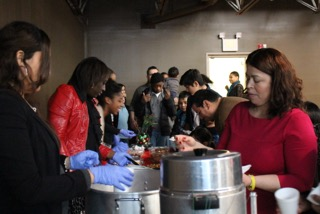 Our Bue Island campus opted for one bilingual service today, with a special Christmas lunch afterward.