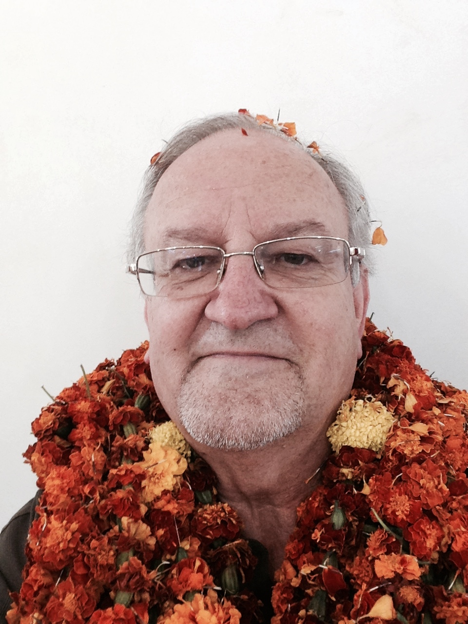 a marigold welcome in India