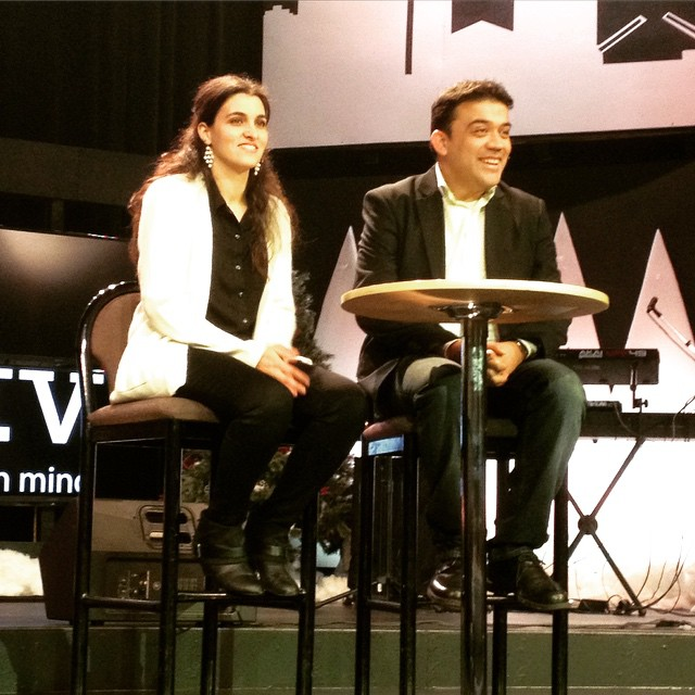 """At 8:30am, our Blue Island campus pastors, William & Melek Arevalo charged us, """"Don't Be Afraid"""" as we enter 2015"""