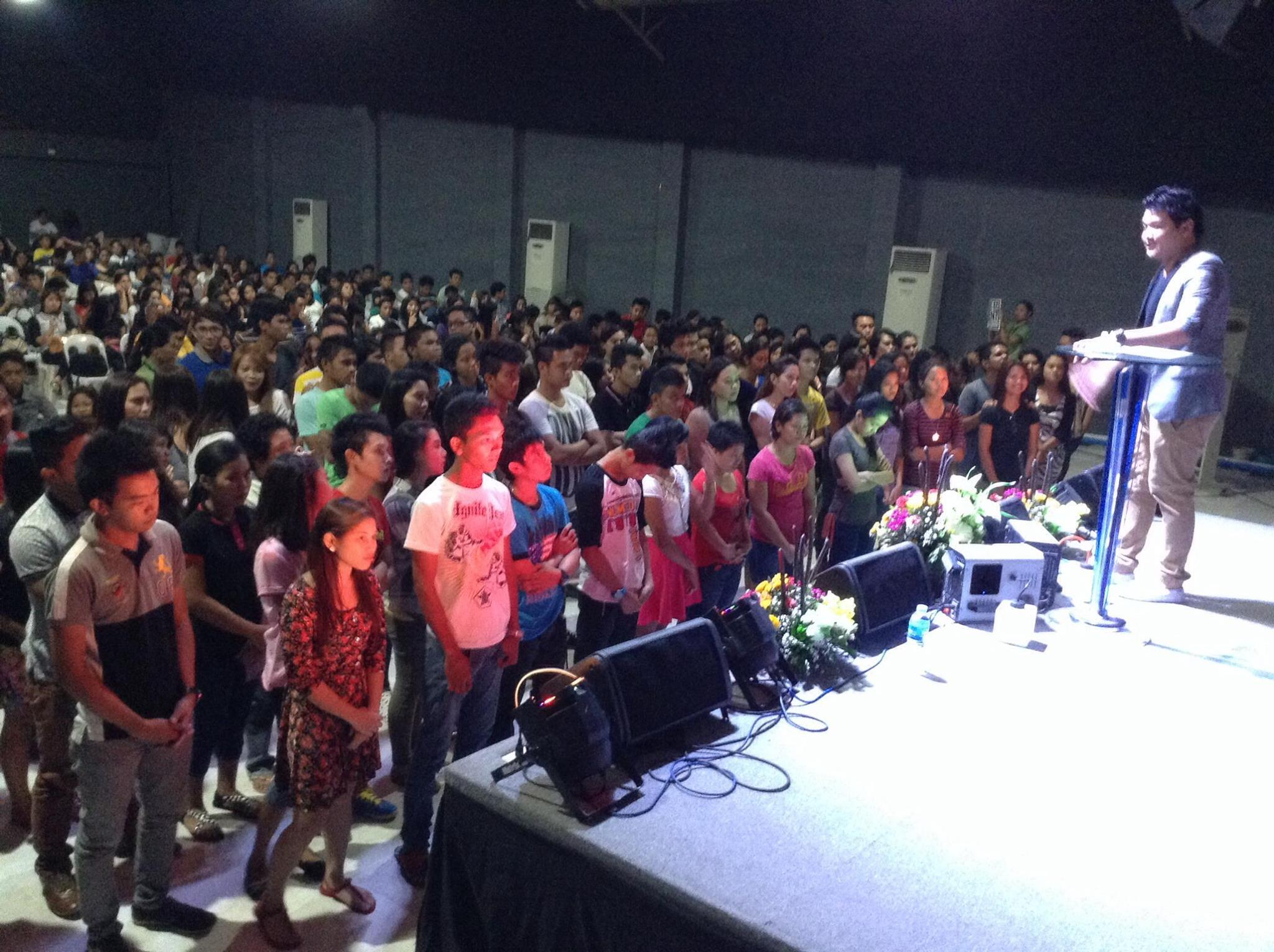 In the Philippines, our Davao campus was packed wall-to-wall with people, and 45 of them came forward to receive Christ at the close of service!