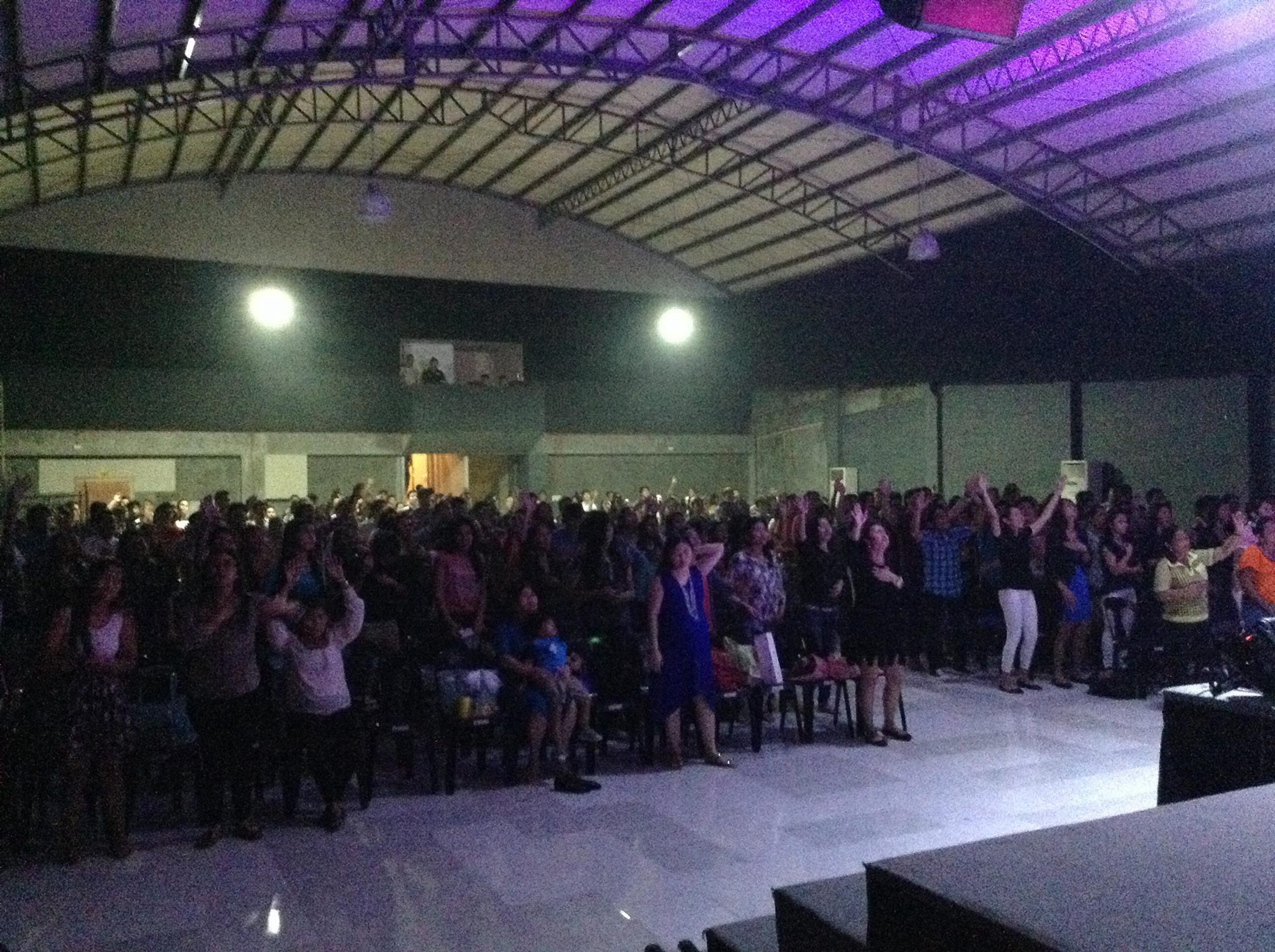 Pastor Herley says both morning services at CLC-Davao were FILLED with people & the Presence of the Lord!  (Their new building seats about double their old location & still they're already packed!)