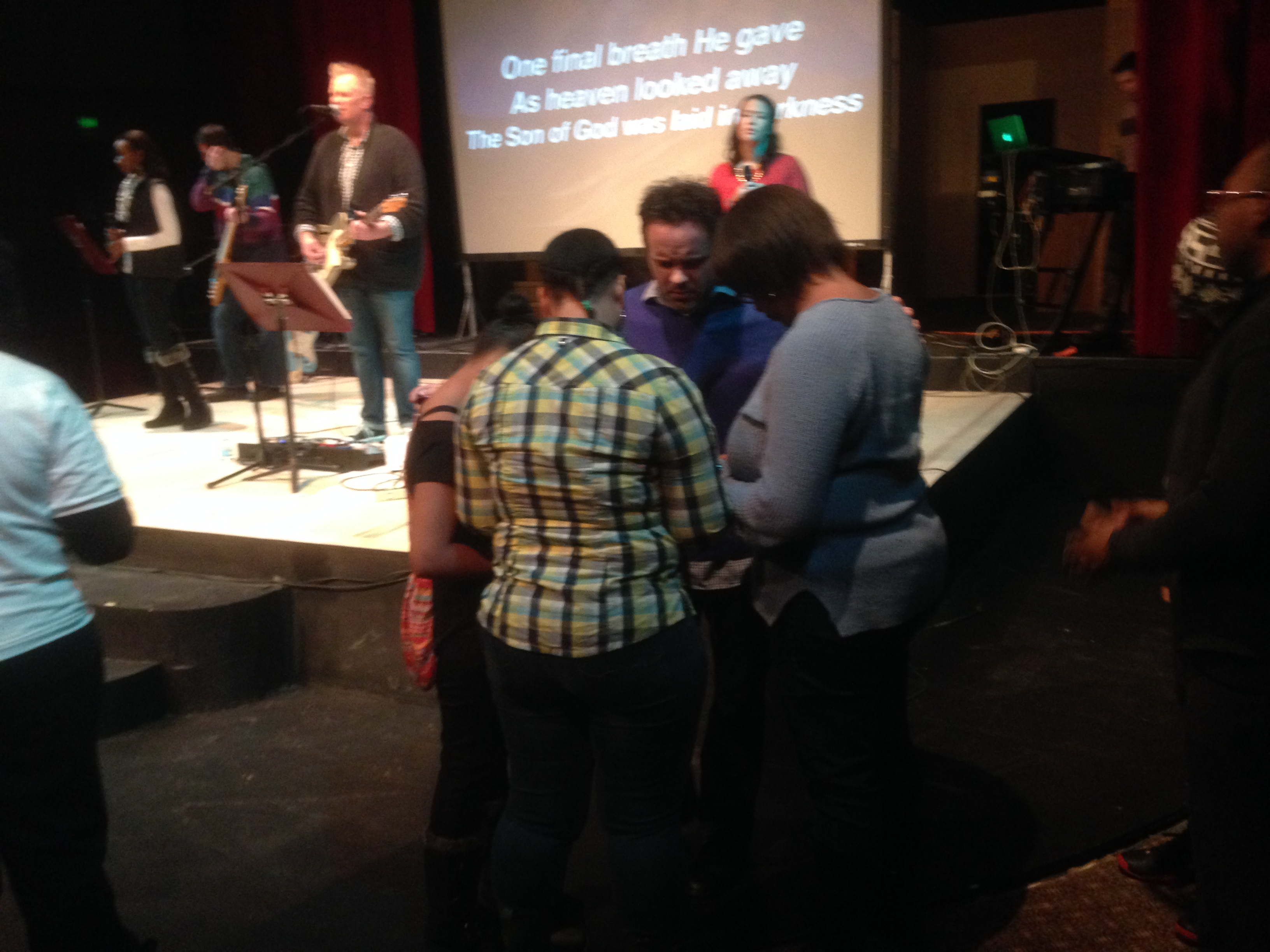 Our NWI Campus enjoyed communion together as families at the altar, and it was powerful!