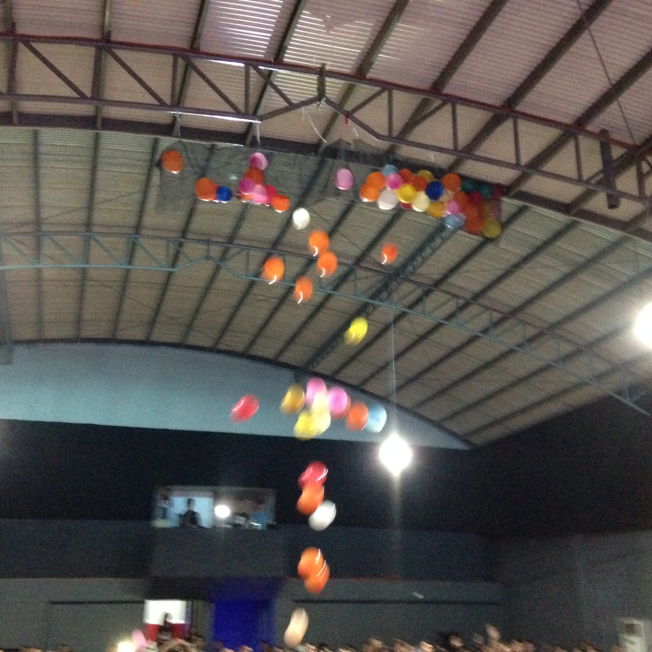 At the close of the Dedication service, balloons were released from the ceiling to celebrate