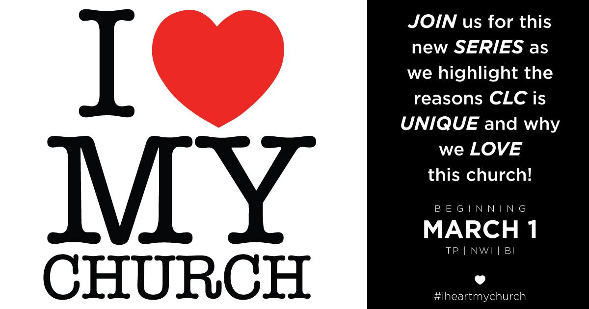 Week 2 of #iheartmychurch focused on the fact that CLC is a Spirit-Filled Church!