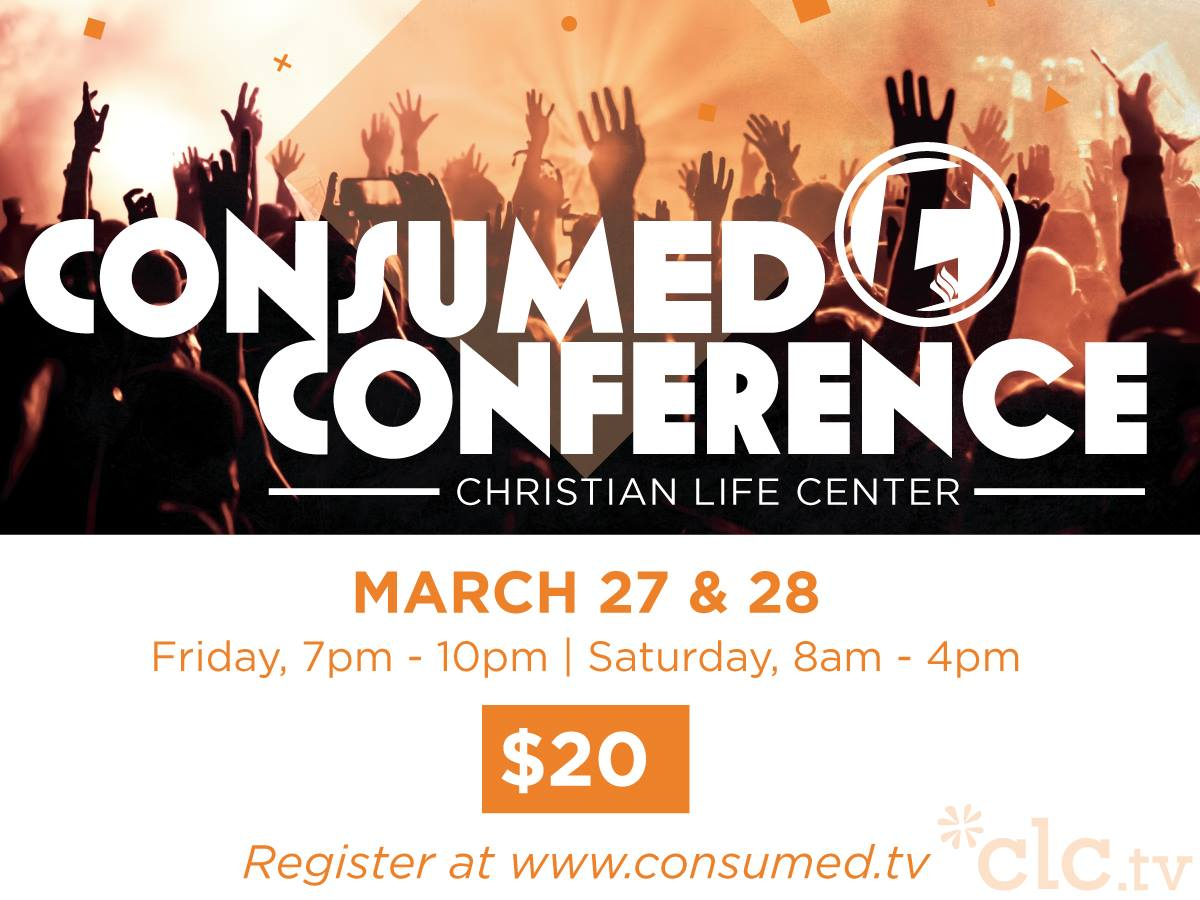 By the way, MEGA-KUDOS to Pastor Matt DeLaTorre and the entire Consumed Student Ministries team - I've heard rave reports about the first-ever CLC Consumed Conference  hosted in Blue Island but attended by all 4 of our USA campuses this weekend!!!