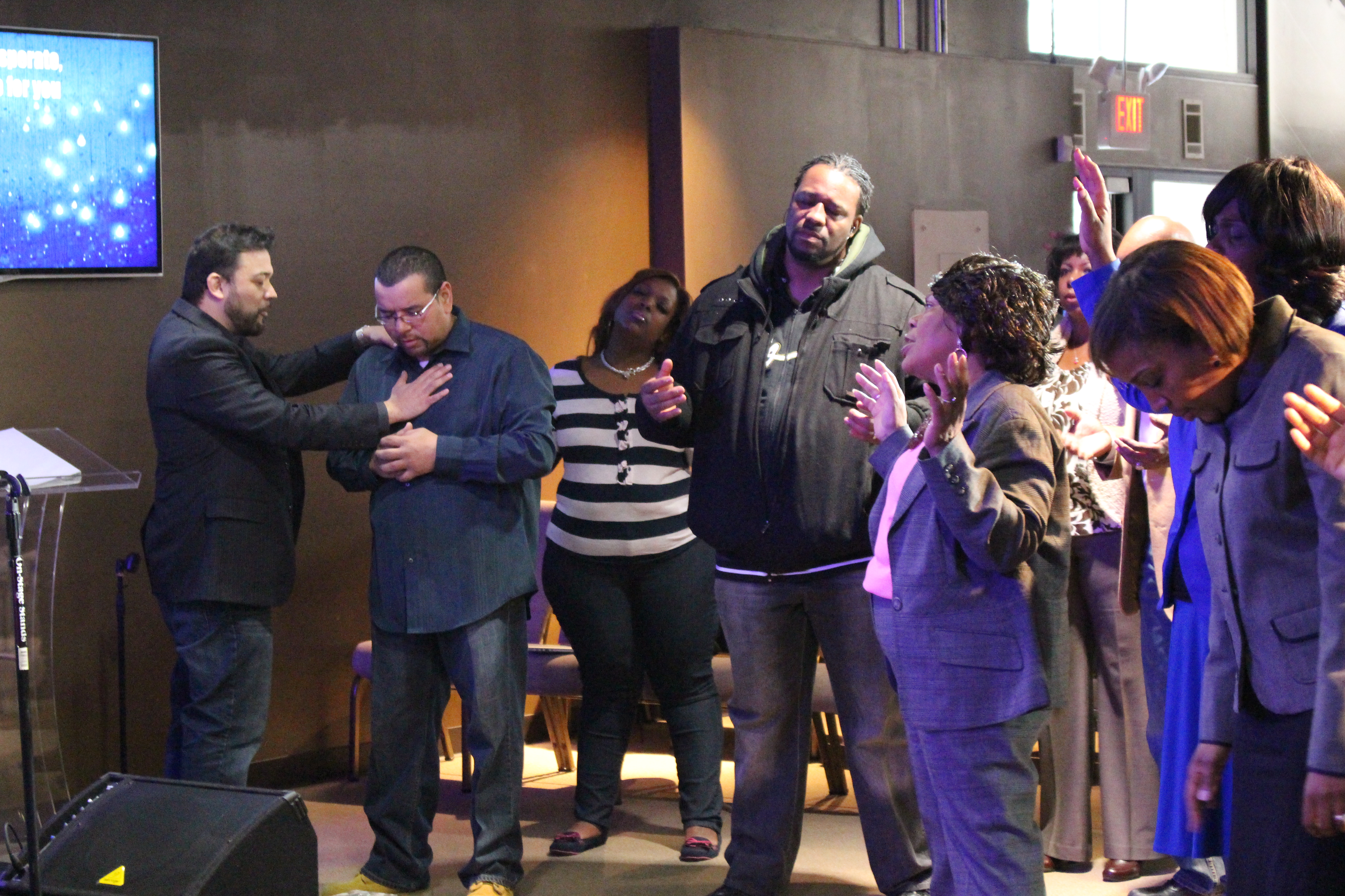 Our Blue Island campus saw the Holy Spirit at work in both services, with reports of physical healings & at least 1 person filled with the Holy Spirit!