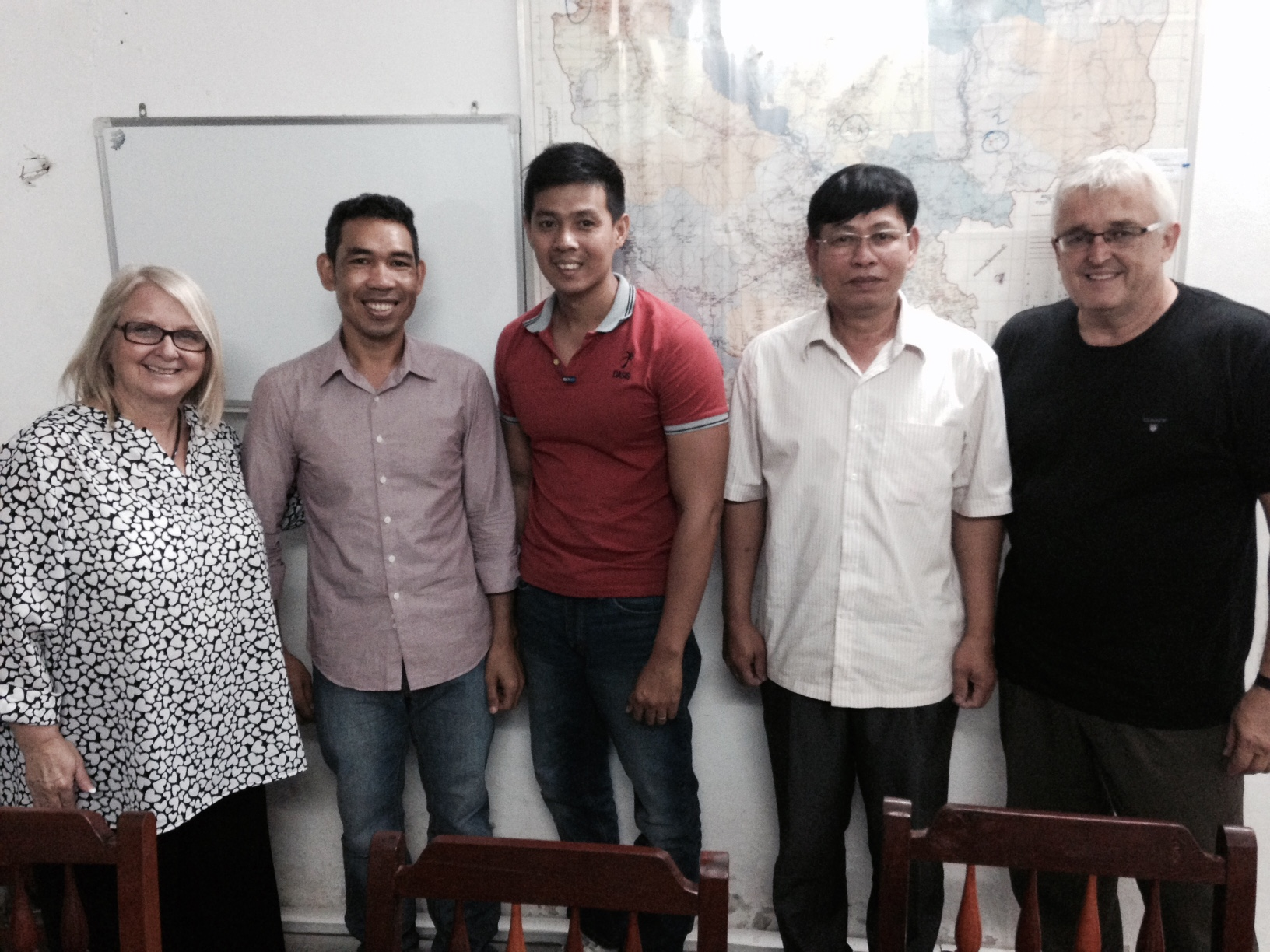 After the conference and a bite to eat, we meet with this group of leaders (including Pastor Chuck McCaul at the far right, who has served in Cambodia for almost 20 yrs).  They make up the Missions team that oversees New Life's church-planting efforts, which CLC supports on a monthly basis.