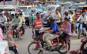The traffic of MOTORBIKES in Phnom Penh is unlike anywhere we've ever been!