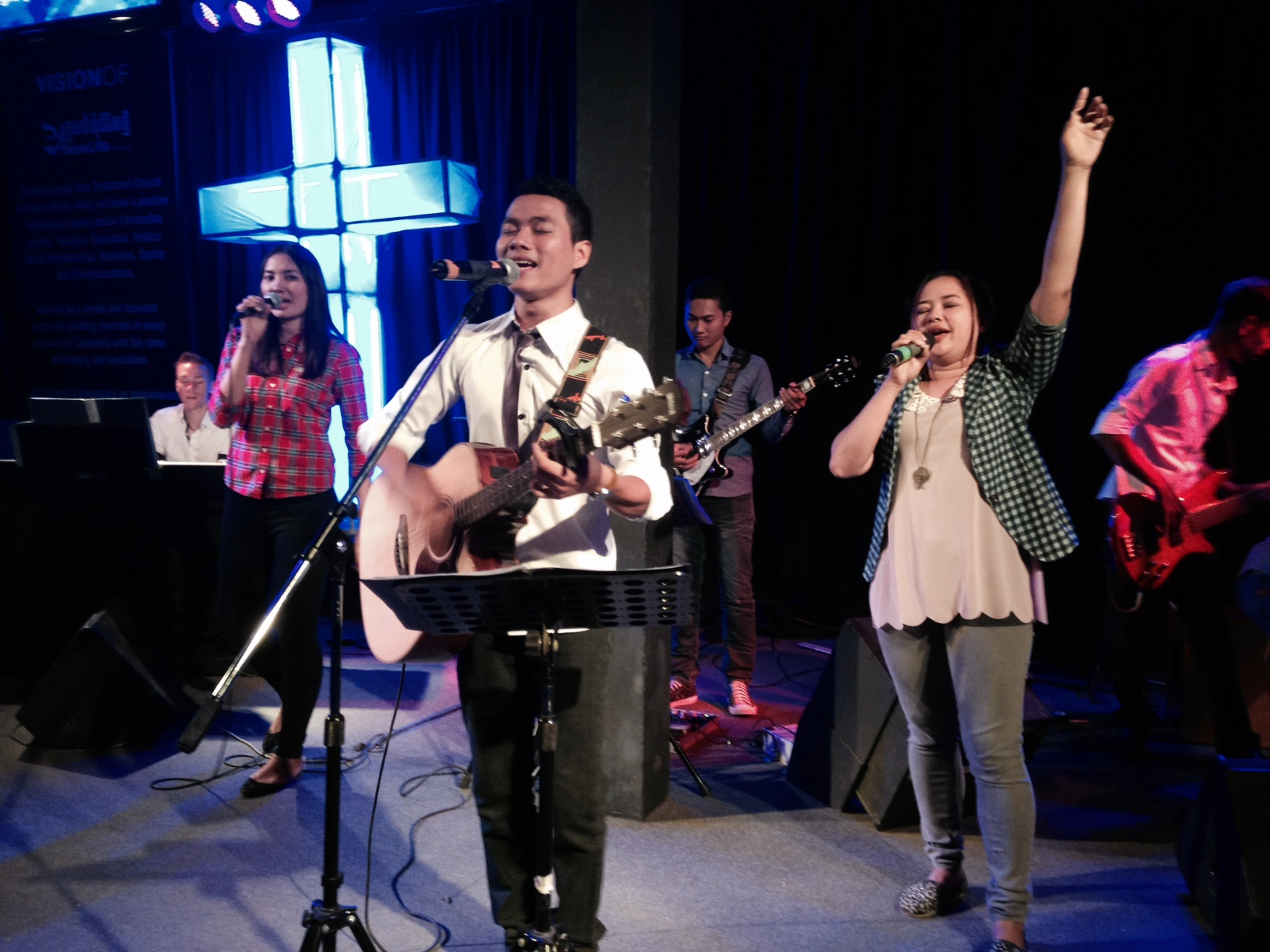 the New Life Fellowship worship team is one of our favorites anywhere in the world, and today was exceptional - such a strong move of the Spirit!