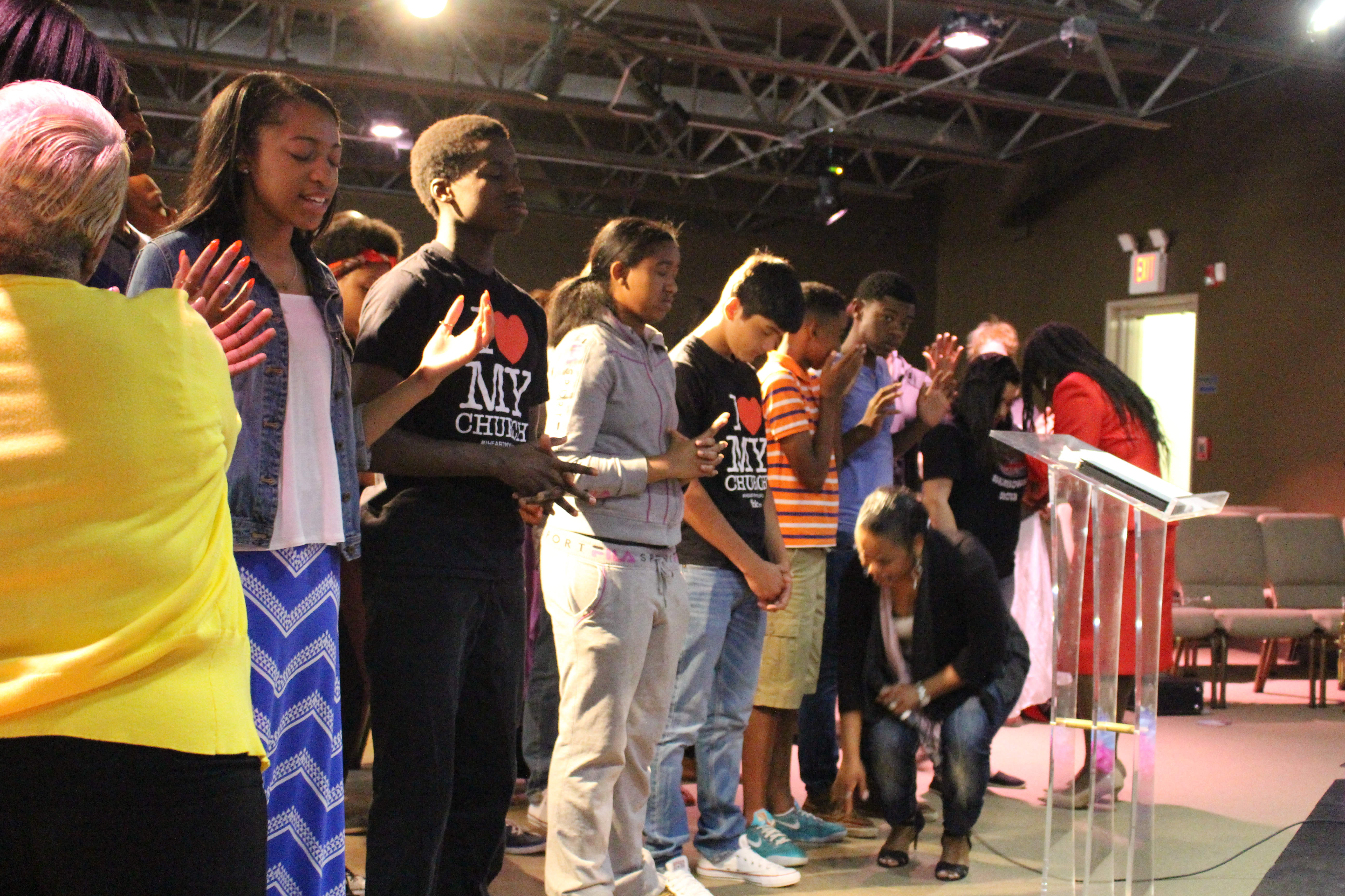 Our Blue Island campus had a powerful time praying over our youth in the English service.
