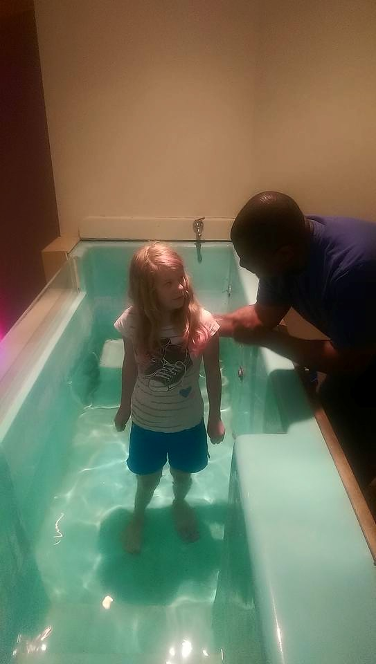 We BAPTIZED new believers, in both TP and South Bend (Pastor Doug pictured here with 1 of 4 baptized there today!)