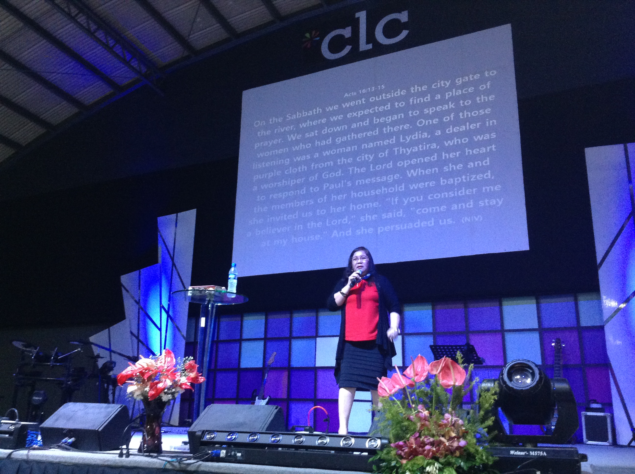 Pastora Nelly Montes brought a powerful message at our Davao, Philippines campus for Mother's Day
