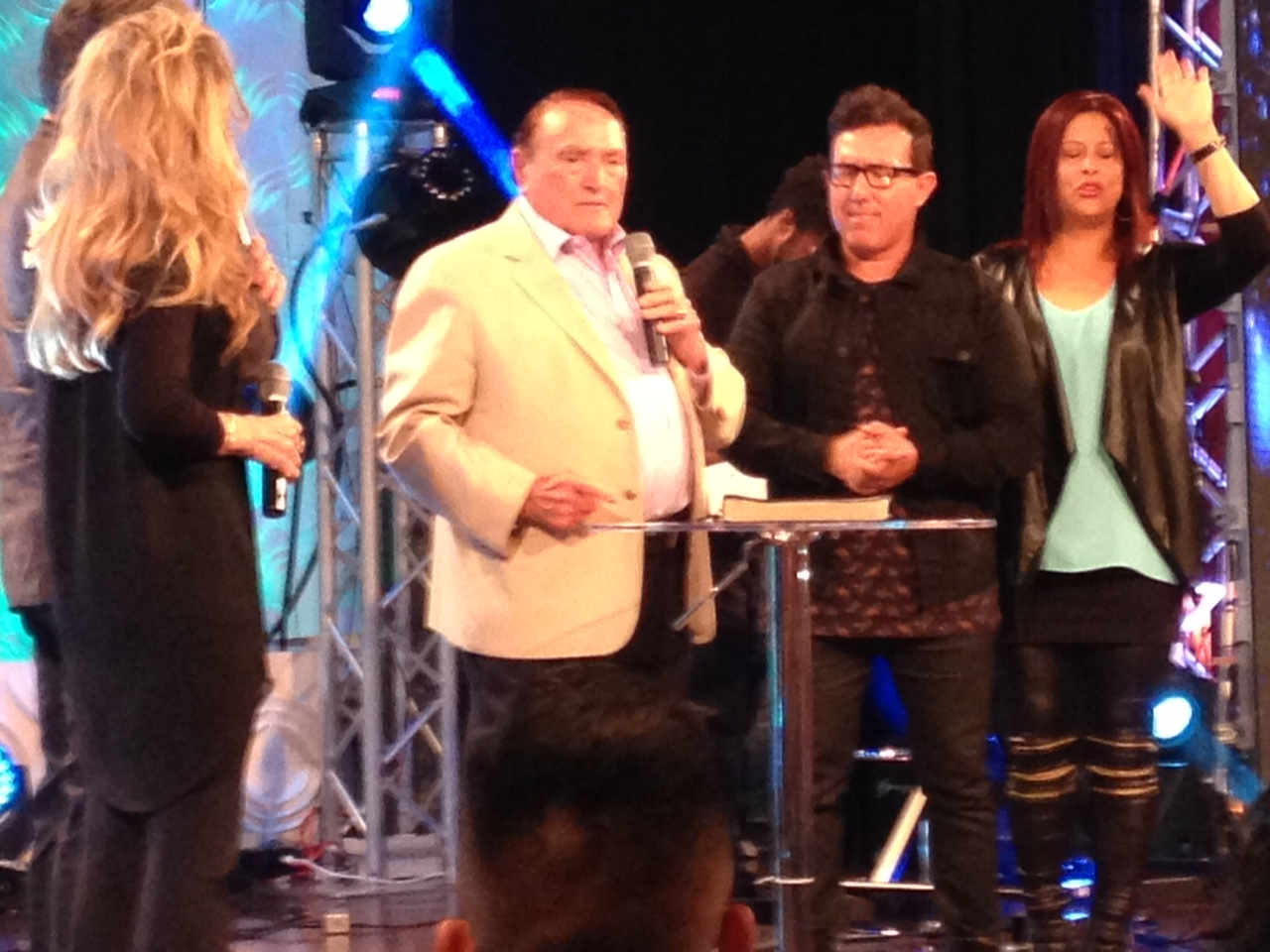We came because Pastor Sergio De La Mora has agreed to minister at our 1st Love Conf. 2016, but it was another surprise to hear from Matt & Laurie Crouch of TBN & especially Dr. Morris Cerullo!