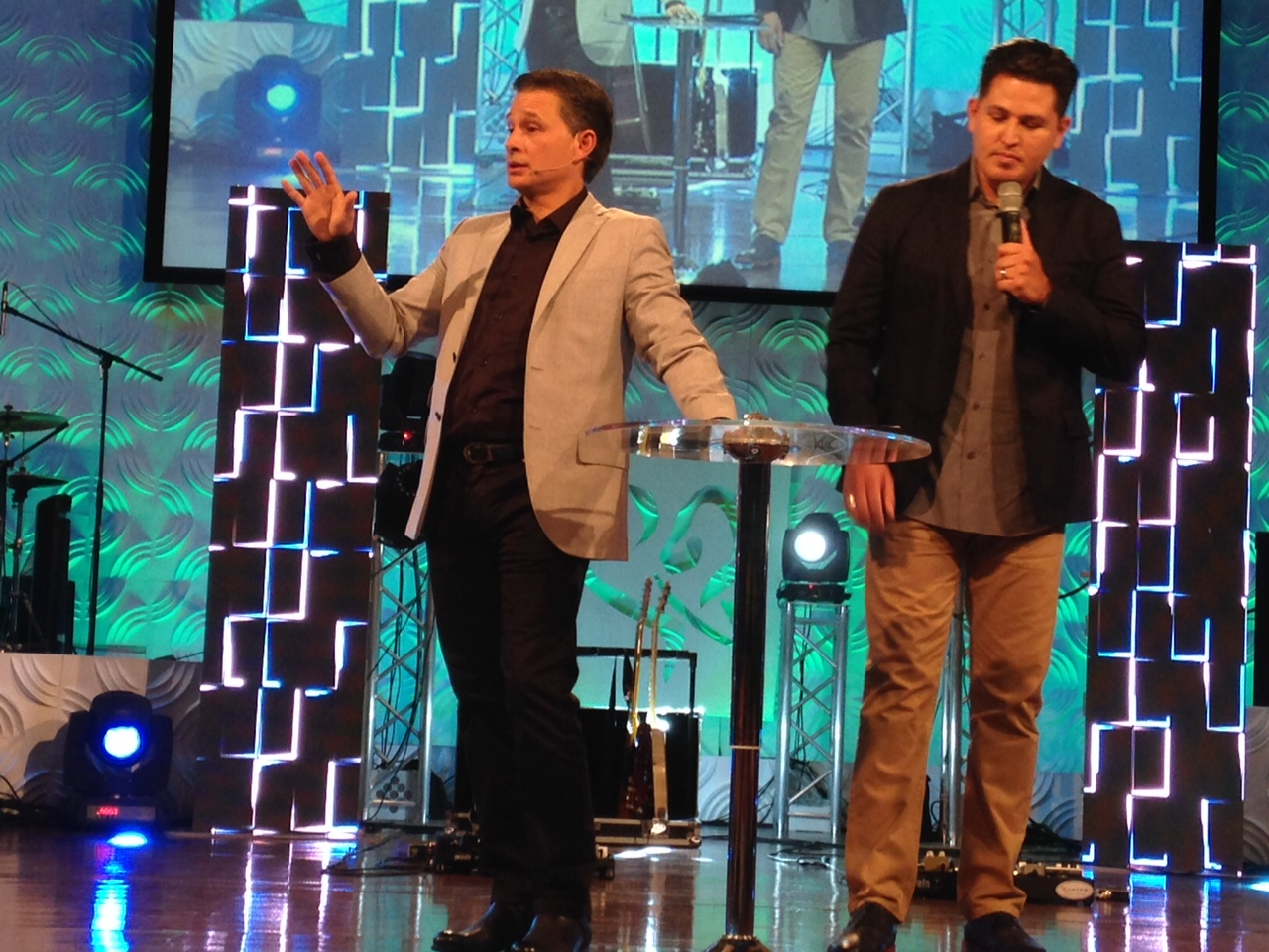 Pastor Cash Luna (L) taught with much wisdom AND anointing, even through an interpreter!
