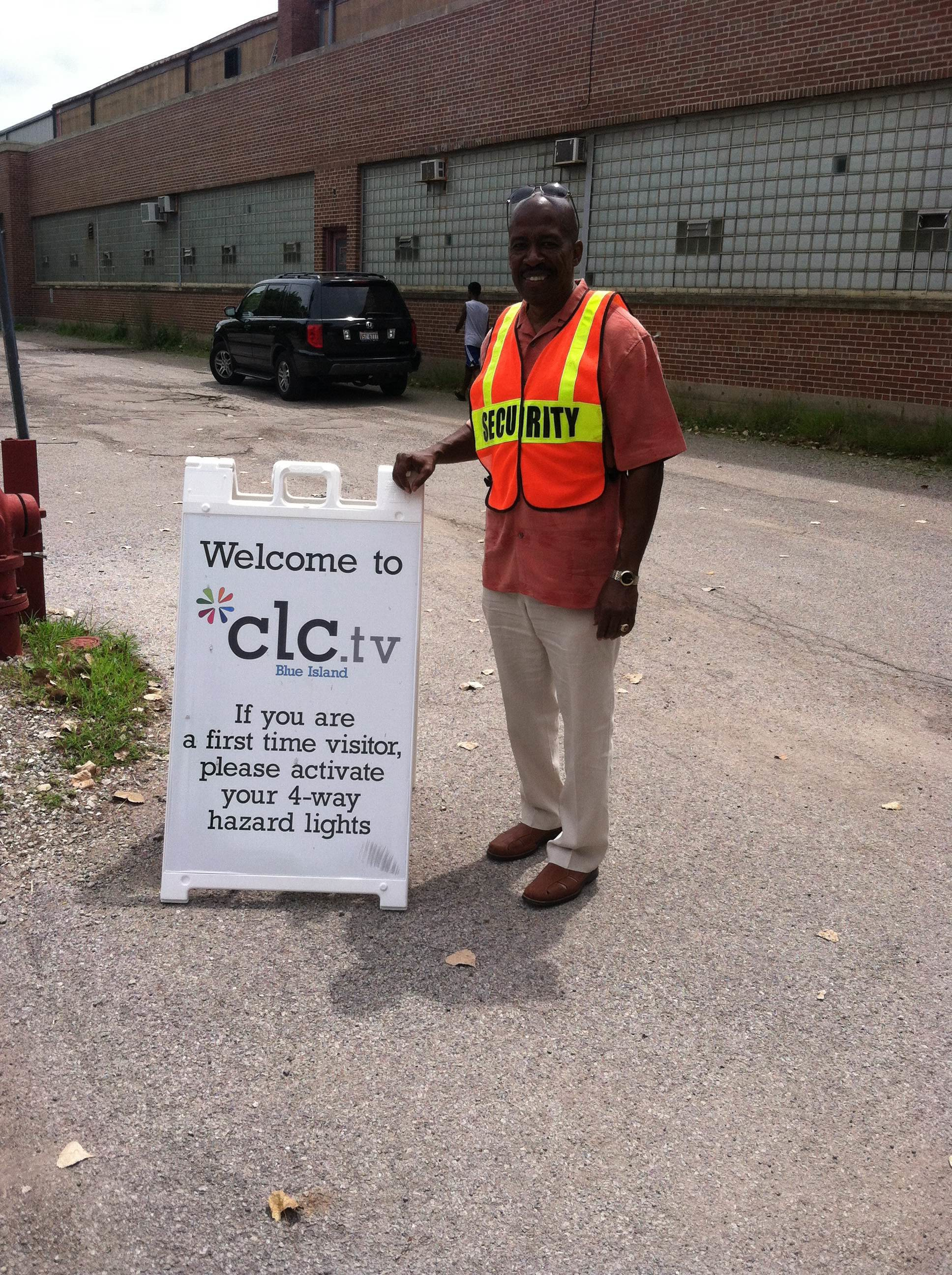 Heroes of the day: our Parking Lot Volunteers (like Len Stallworth here at our Blue Island campus) who endured the heat!