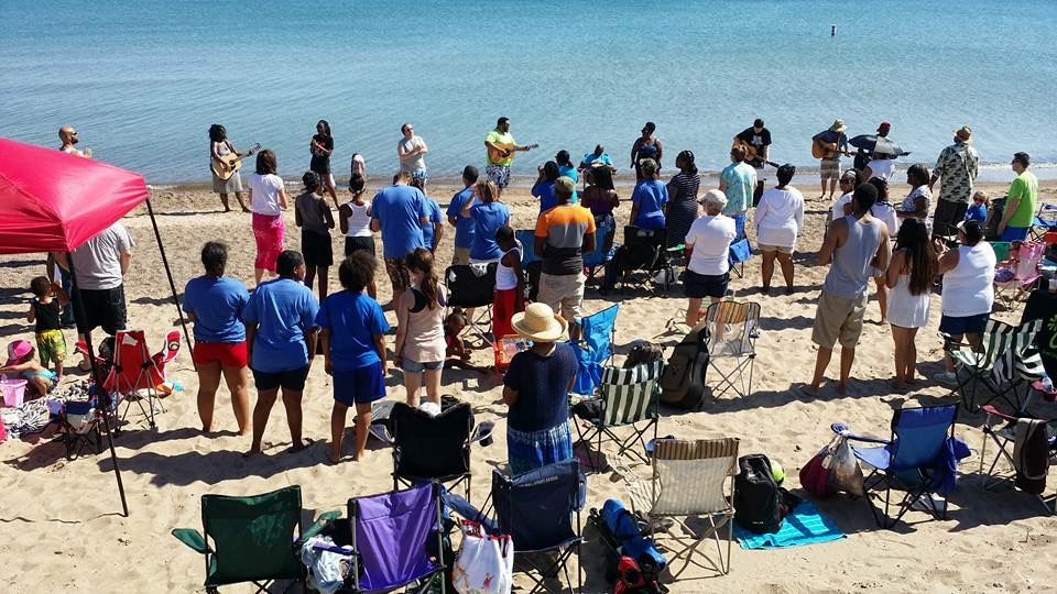 "A record-breaking attendance today for our NWI campus at their 2nd annual ""Church on the Beach""!"
