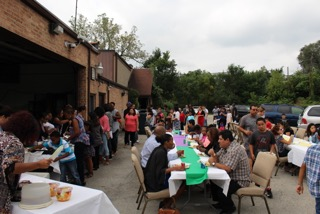"Afterwards the entire campus, Latino & Anglo & African-American came together for ""dinner on the grounds"" & some good fellowship!"