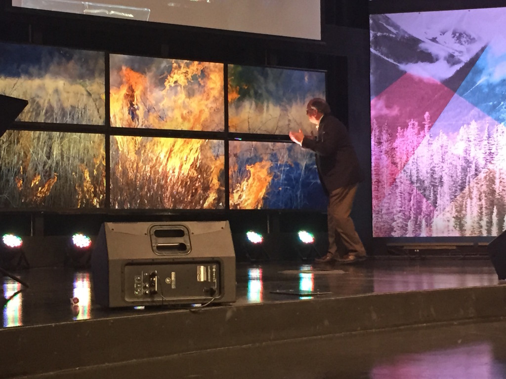 I must admit, I had more FUN preaching than you're supposed to have as we saw Moses talking to the burning bush-