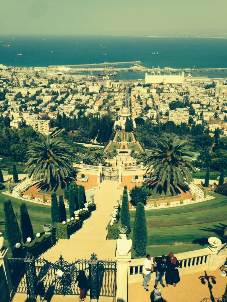 The Baha'i gardens are what Haifa is known for to tourists