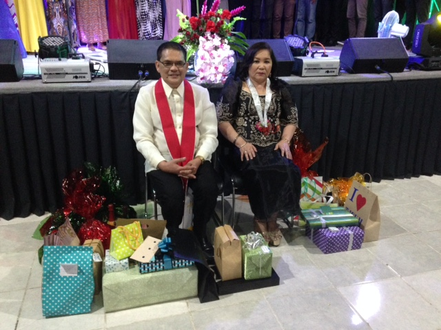 The congregation of CLC-Davao insisted on bringing gifts to honor their pastor as a Bishop!